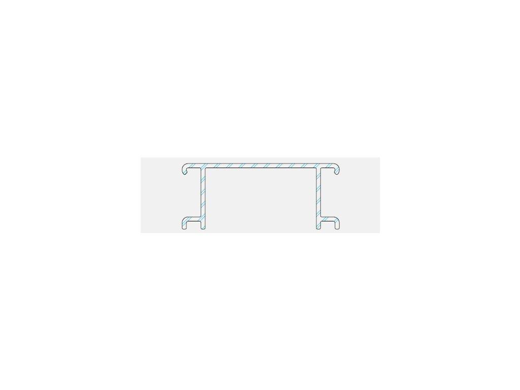 Ventilační mřížka k terasovému profilu basic P 9555 - 2x6m - odstín 65 elox
