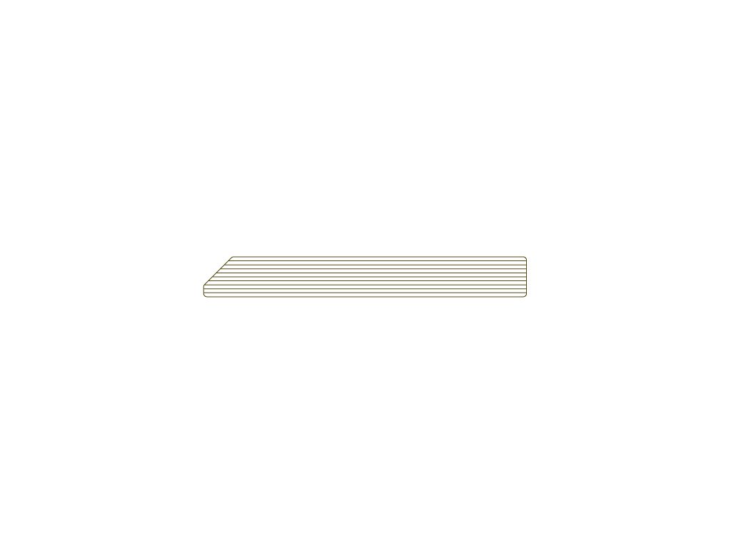 Soklová lišta 78 / 10 mm - 4,5m - odstín 509 Kámen