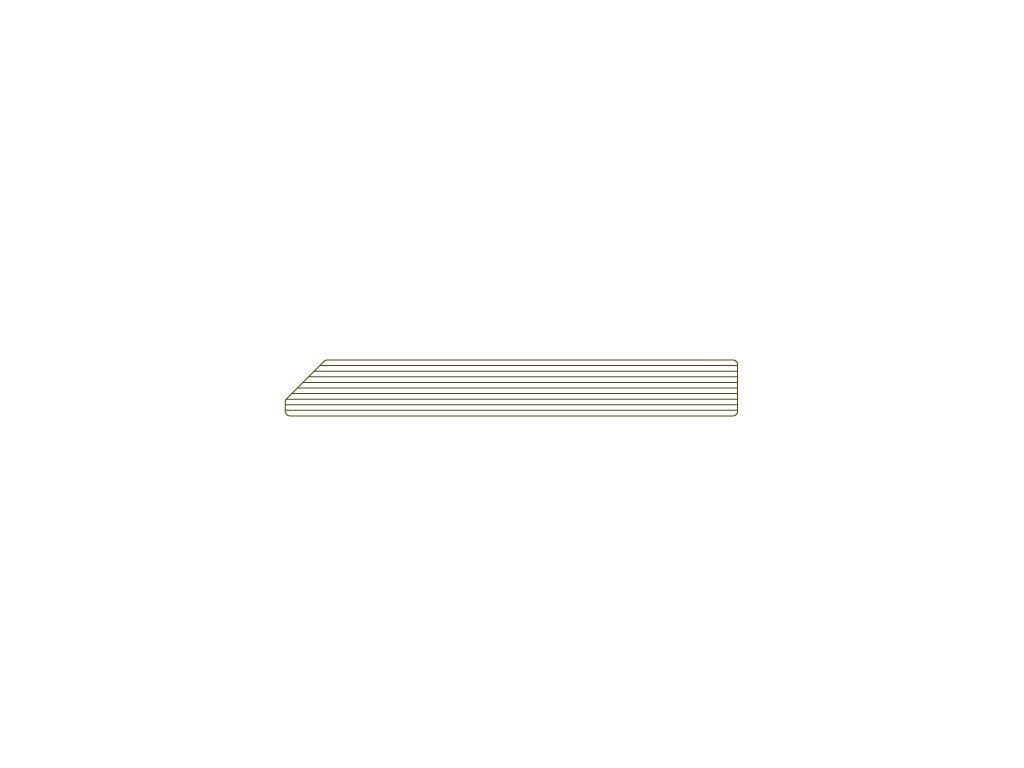 Soklová lišta 78 / 10 mm - 4,5m - odstín 510 Břidlice