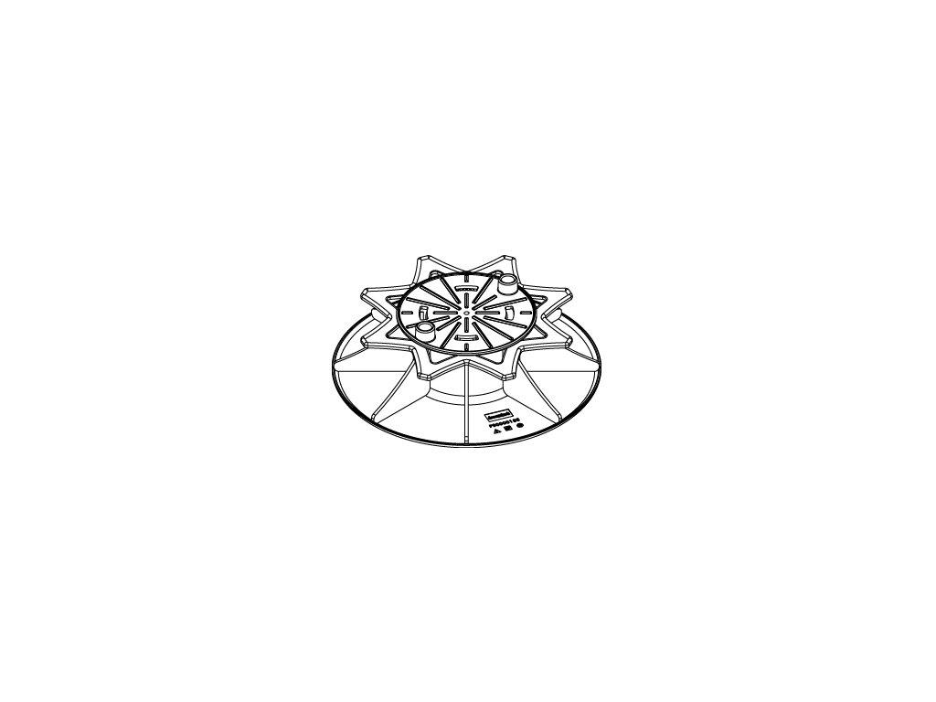 Podkladová patka výškově stavitelná 55 až 95 mm