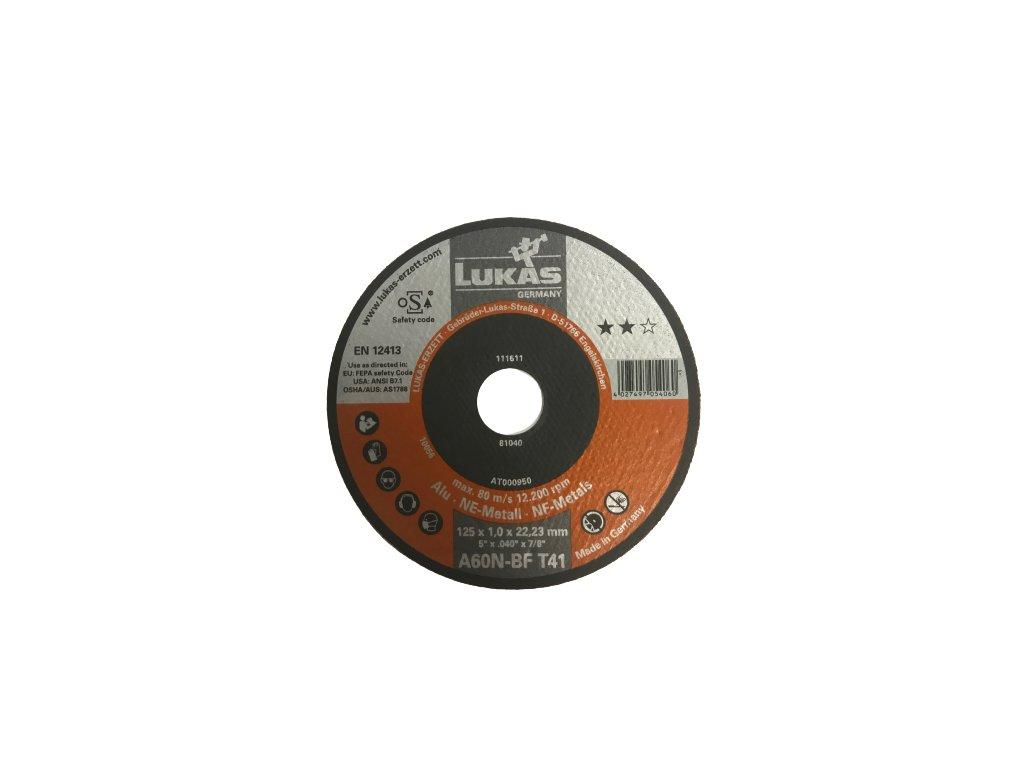 Řezný kotouč určený na hliník 125*1,0*22,23mm