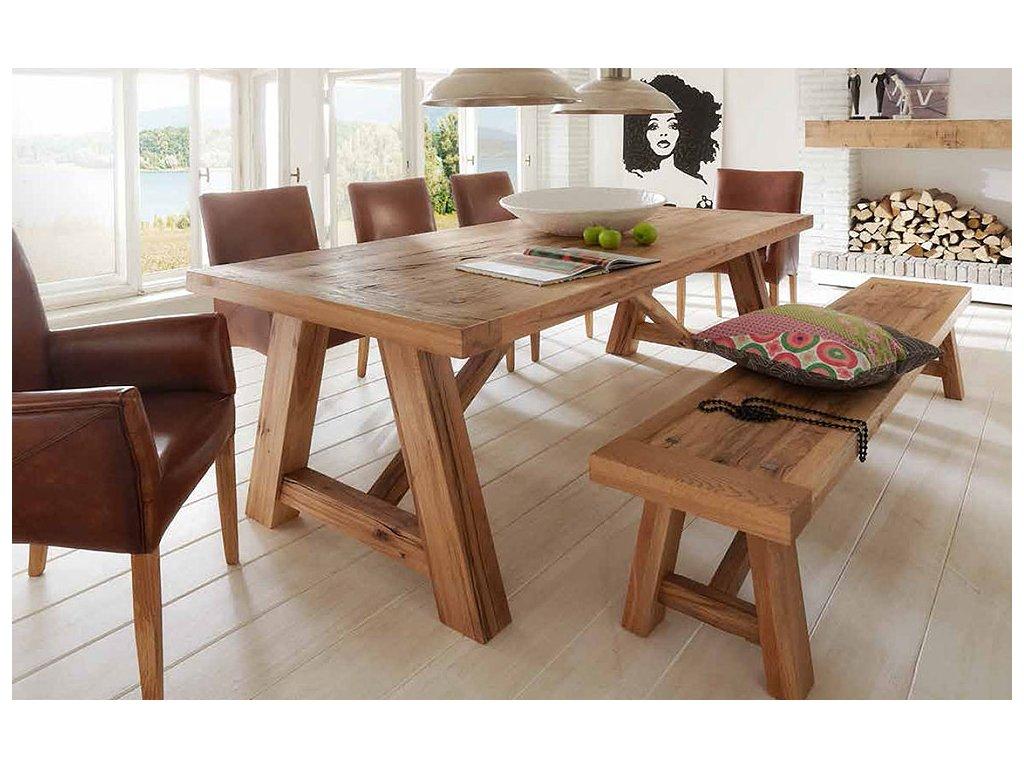 Stolní stůl ze starých dubových trámů1