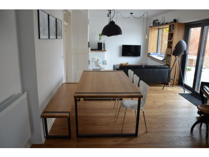 Elegantní dřevěný stůl z masivu - DUB 40mm tloušťka (porvrchová úprava Tvrdý voskový olej) (délka 300 cm, šířka 90 cm, výška 80 cm)