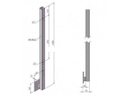 balkonovy sloupek bok