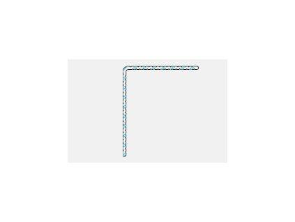 "Okopový hliníkový profil ""L"", 42/ 50 mm - odstín 12 černá"