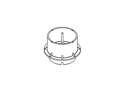 Nástavec k podkladové patce P 9431, výška podstavce 40 mm