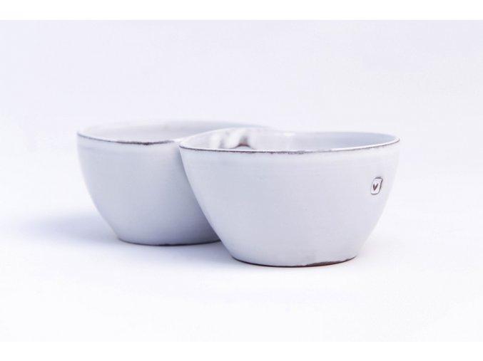 dvojmiska keramika srdce