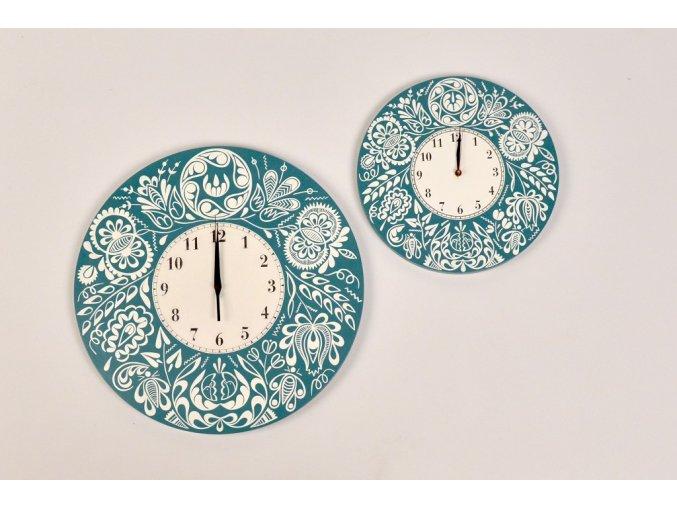nástěnné hodiny tyrkysové