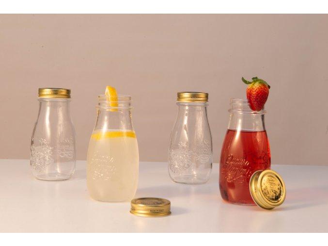 sklenice s víčkem