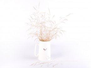 Porcelánová konvička bílá s dekorem slepičky 500 ml