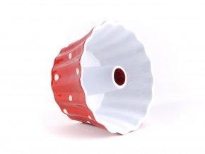 Keramická forma na bábovku červená 20 cm