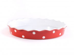 Keramická forma na koláč 30 cm červená