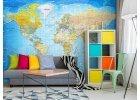 Fototapety mapy světa