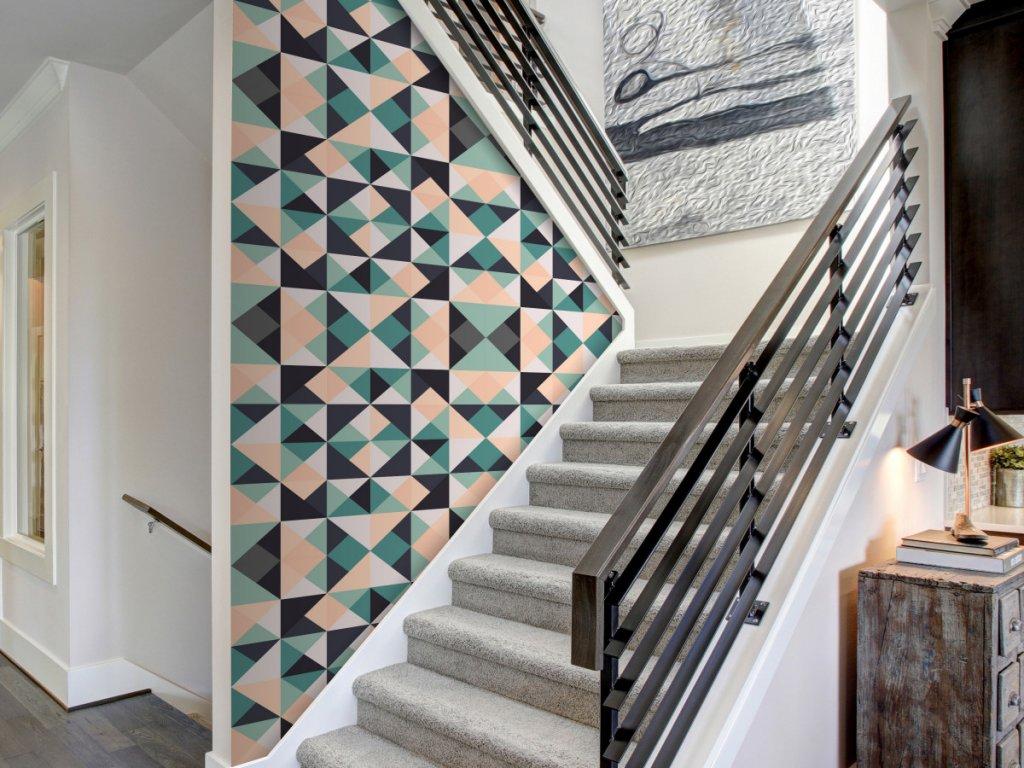 Africká geometrie (Klasické tapety 49x1000 cm - samolepicí)