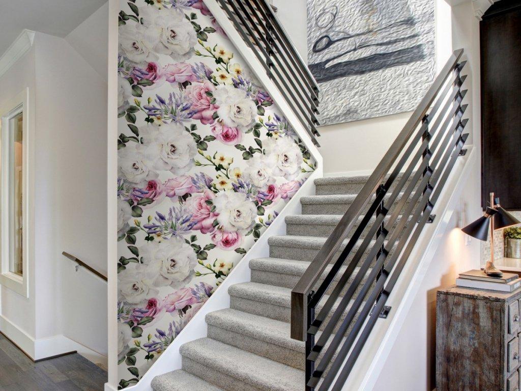 Andělské květy barevné (Klasické tapety 49x1000 cm - samolepicí)