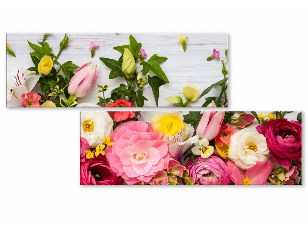Atypický obraz něžné květiny (Velikost (šířka x výška) 100x50 cm)