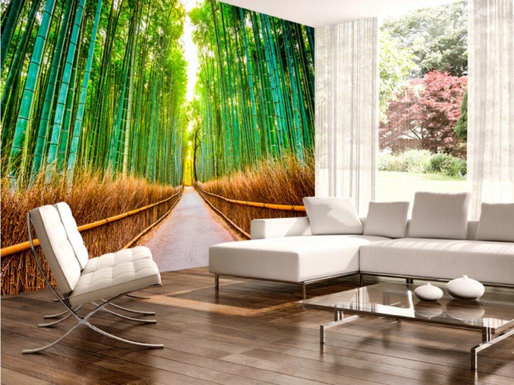 Bambusová stezka (Rozměry (š x v) a Typ 147x105 cm - samolepící)