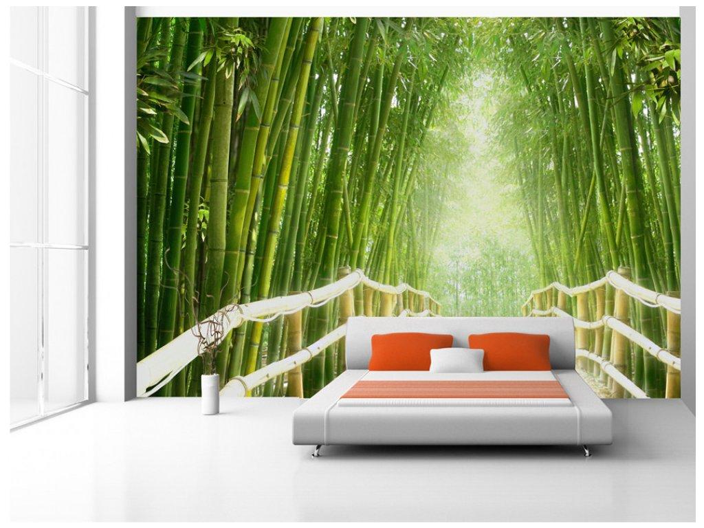 Bambusový les (Rozměry (š x v) a Typ 147x105 cm - samolepící)