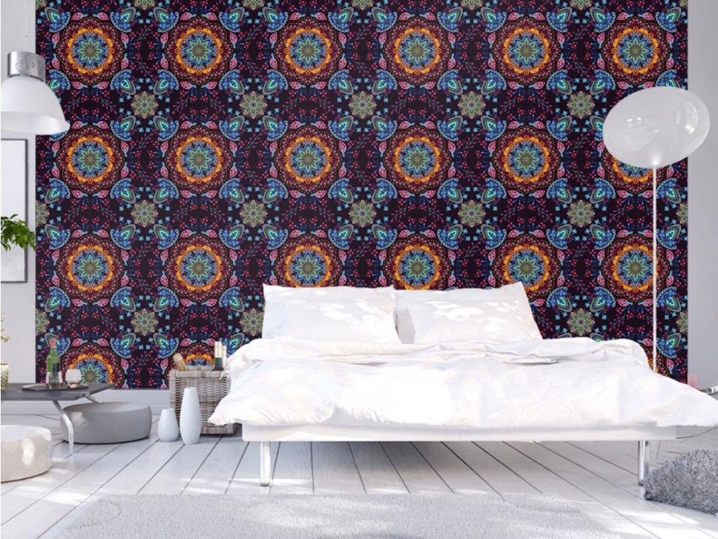 Barevný kaleidoskop (Klasické tapety 49x1000 cm - samolepicí)