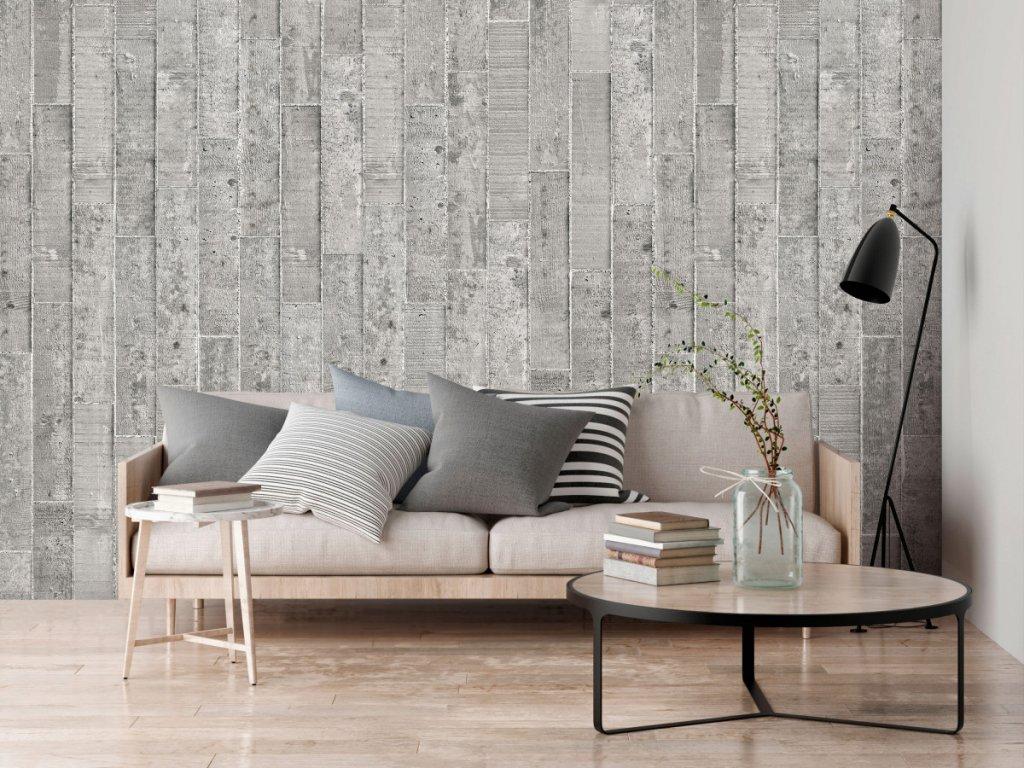 Betonový design (Klasické tapety 49x1000 cm - samolepicí)
