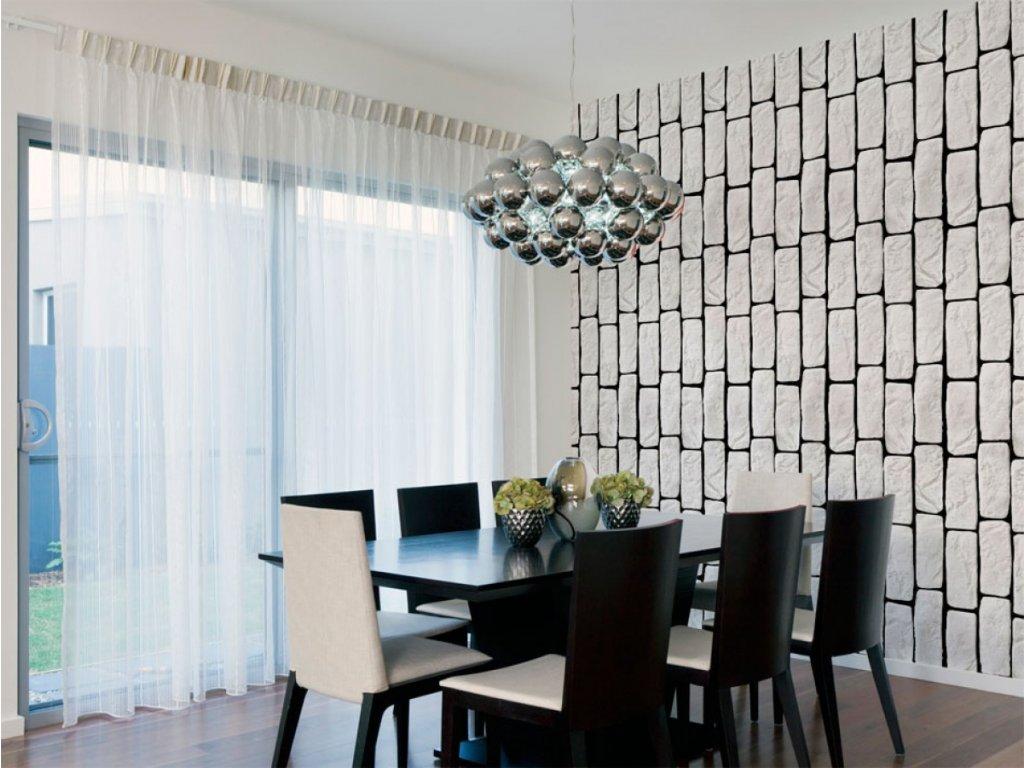 Bílé domino (Klasické tapety 49x1000 cm - samolepicí)