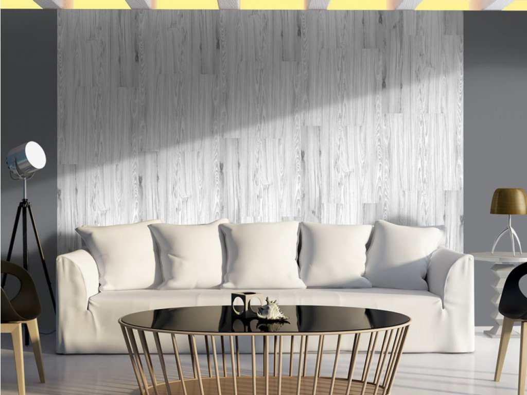 Bílé dřevo (Klasické tapety 49x1000 cm - samolepicí)