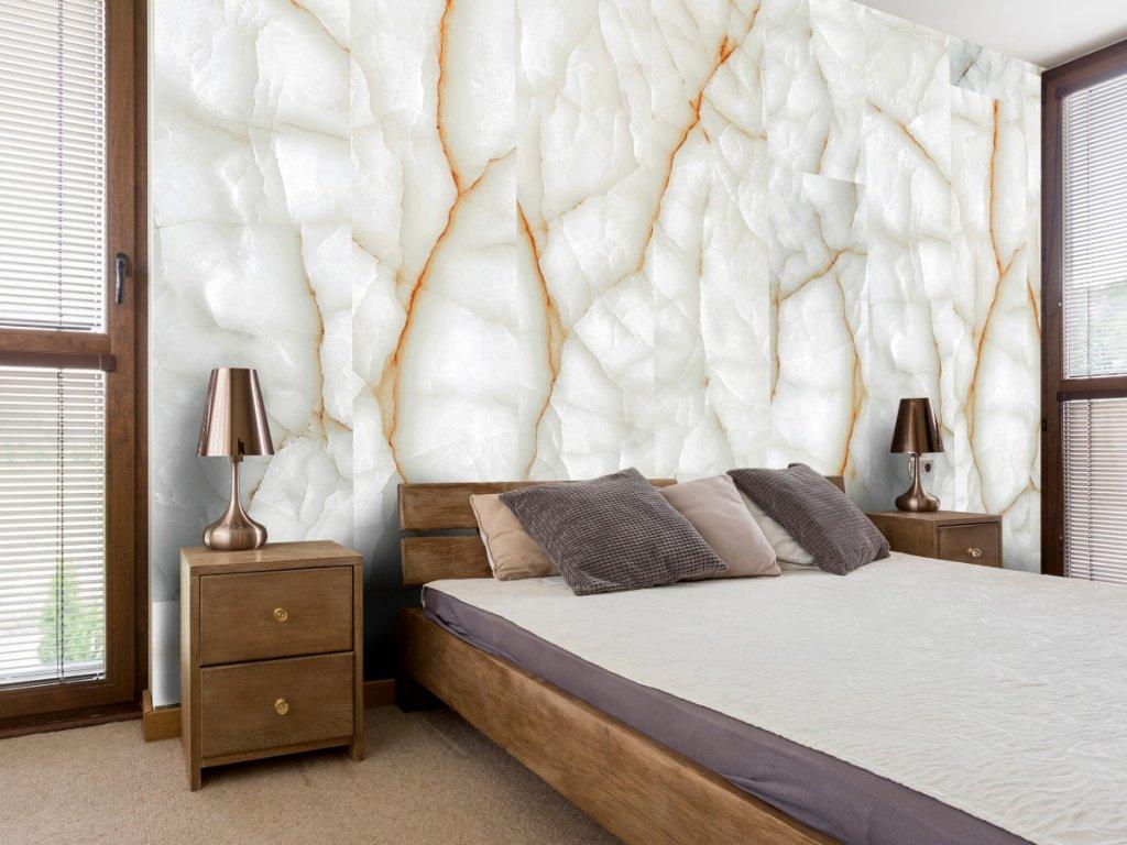 Bílý mramor (Klasické tapety 49x1000 cm - samolepicí)