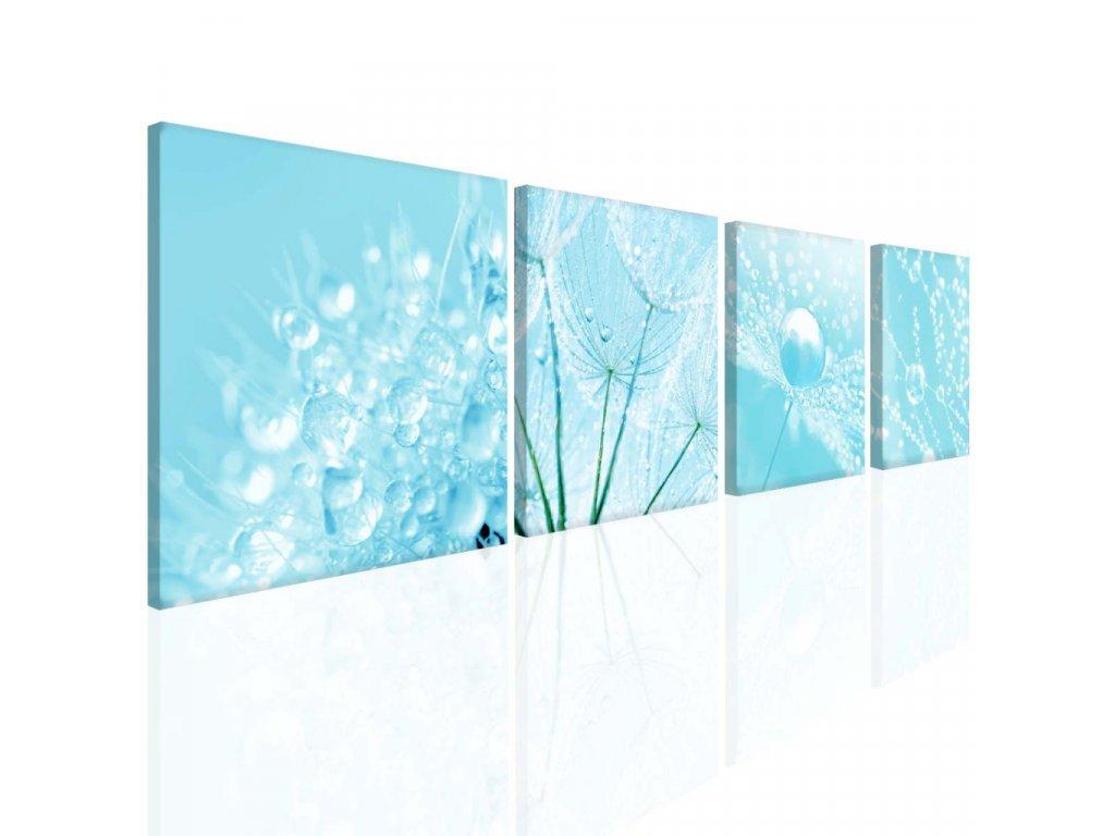 Blankytně modrá mandala (Velikost 60x60 cm)