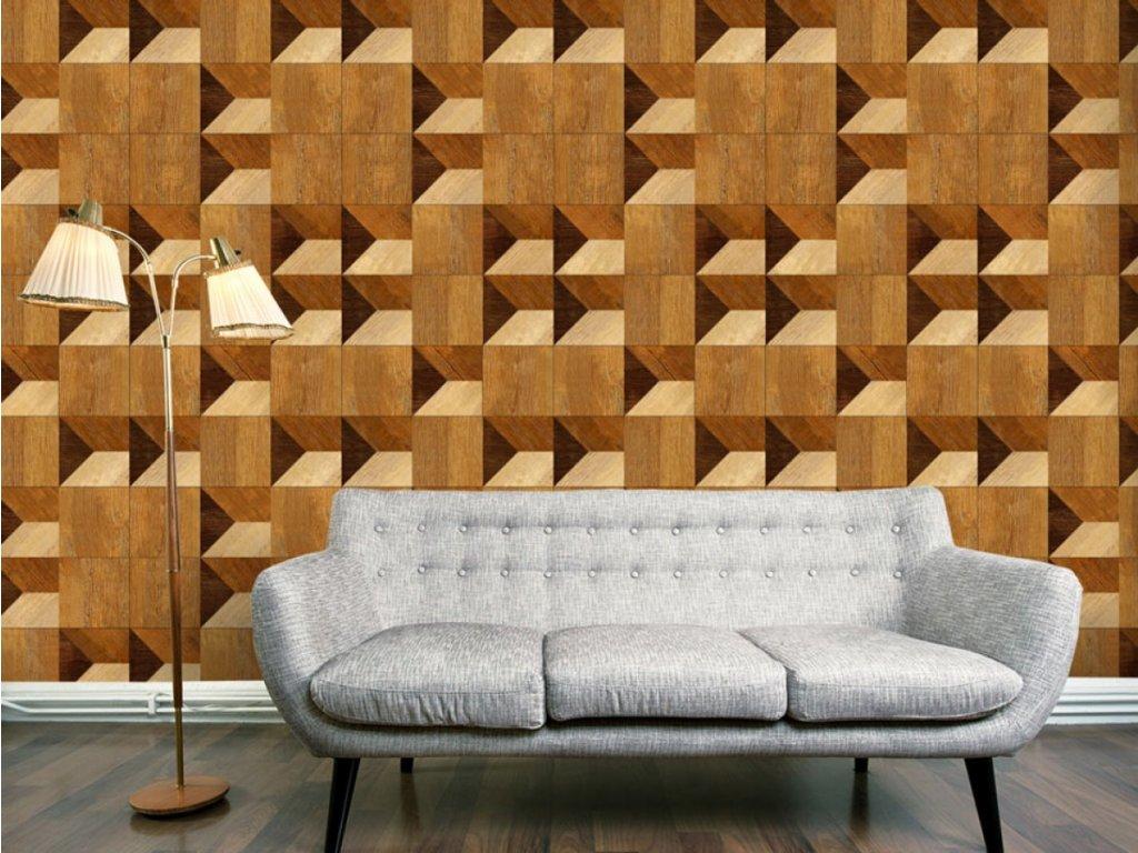 Bloky v barvě medu (Klasické tapety 49x1000 cm - samolepicí)