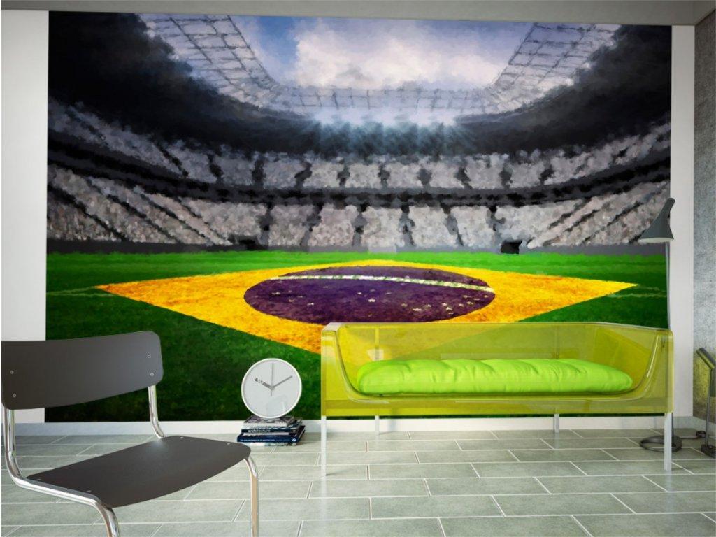Brazilský stadion (Rozměry (š x v) a Typ 147x105 cm - samolepící)