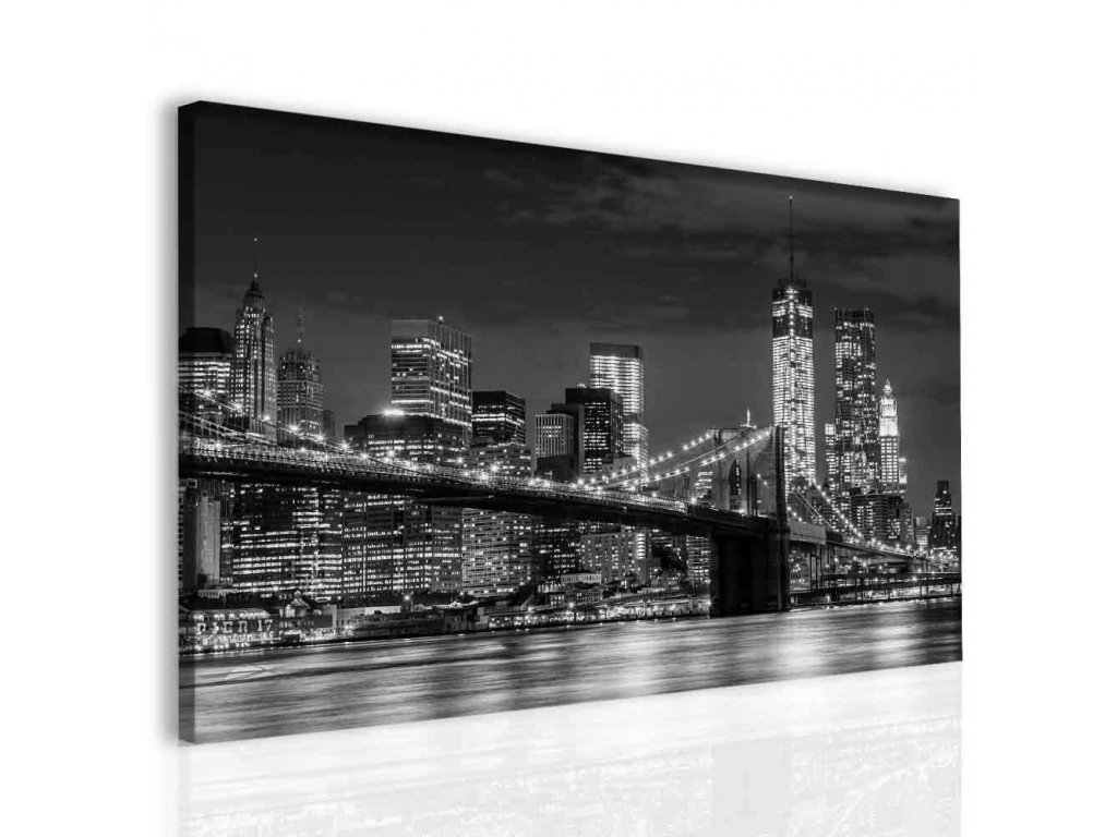 Brooklyn bridge Manhattan (Velikost (šířka x výška) 120x80 cm)