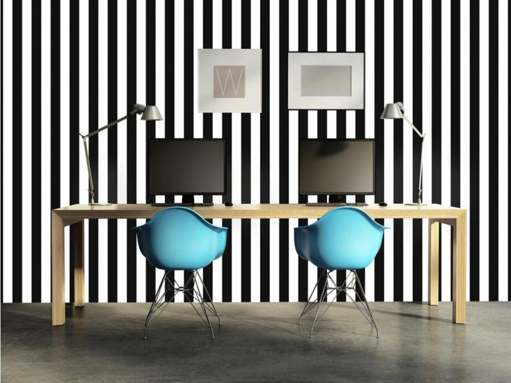 Černo bílá zebra (Klasické tapety 49x1000 cm - samolepicí)