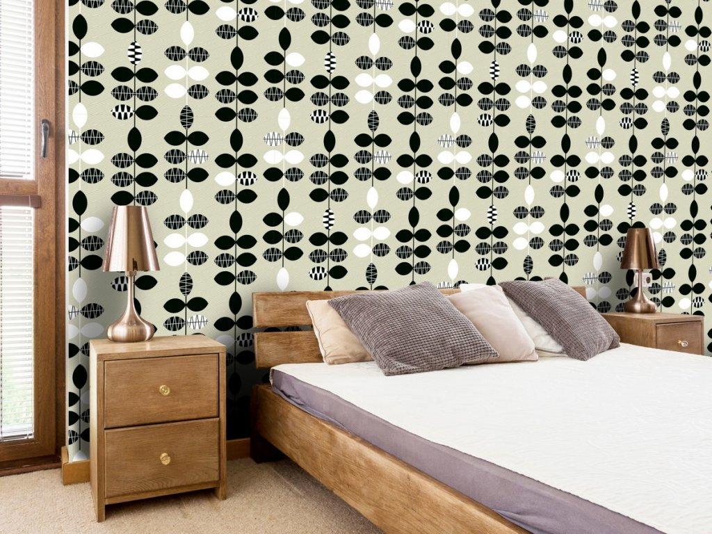 Černobílé tečky (Klasické tapety 49x1000 cm - samolepicí)