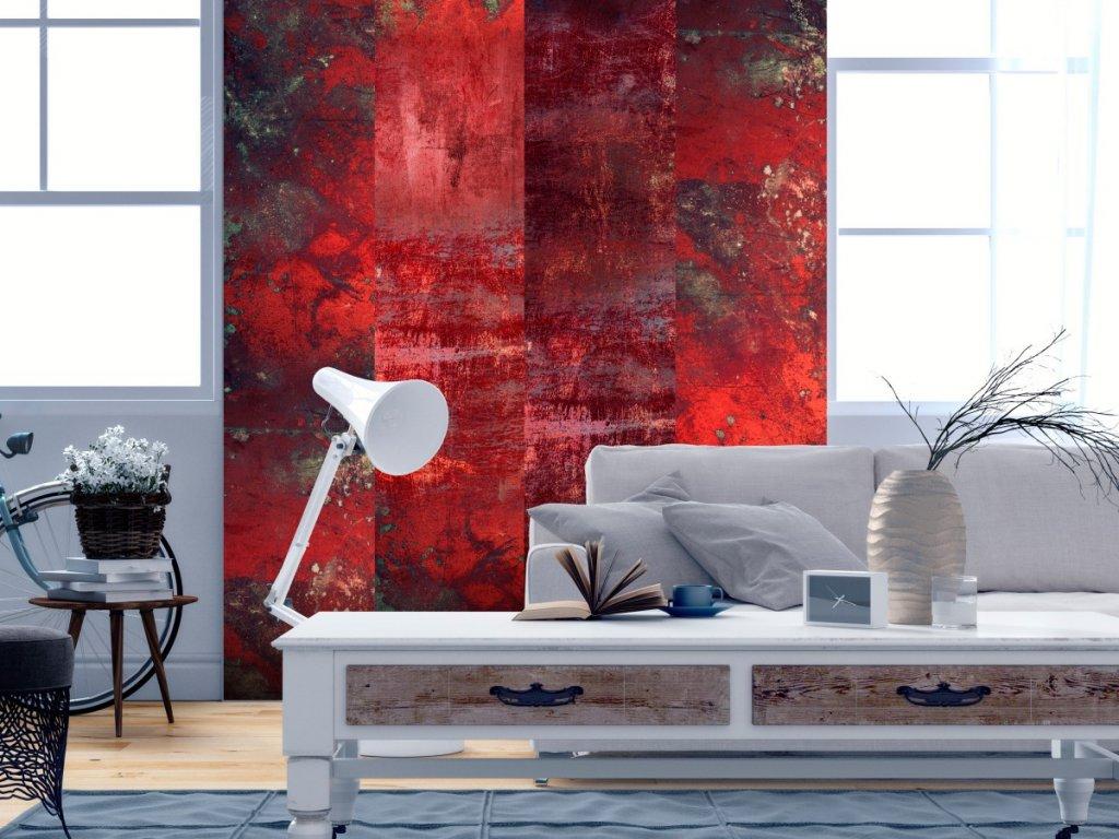 Červený beton (Klasické tapety 49x1000 cm - samolepicí)