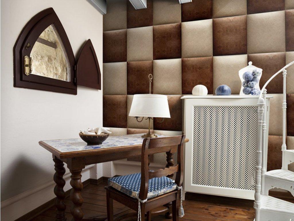 Čokoládová šachovnice (Klasické tapety 49x1000 cm - samolepicí)