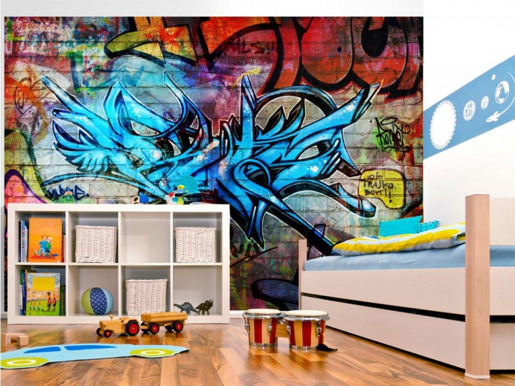 Dětská fototapeta Graffiti (Rozměry (š x v) a Typ 147x105 cm - samolepící)