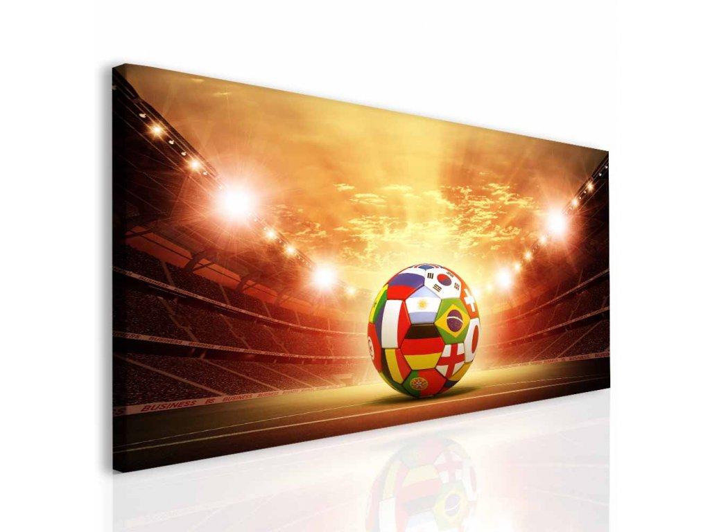 Dětský obraz fotbalový míč (Velikost (šířka x výška) 150x80 cm)