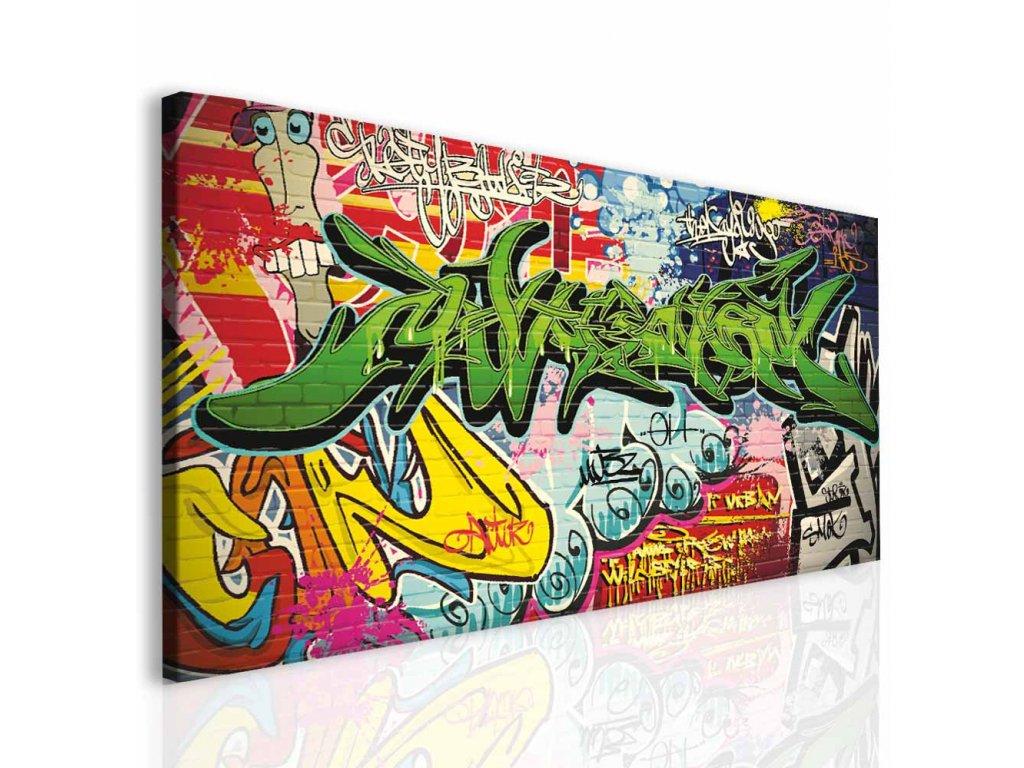 Dětský obraz graffiti (Velikost (šířka x výška) 60c30 cm)