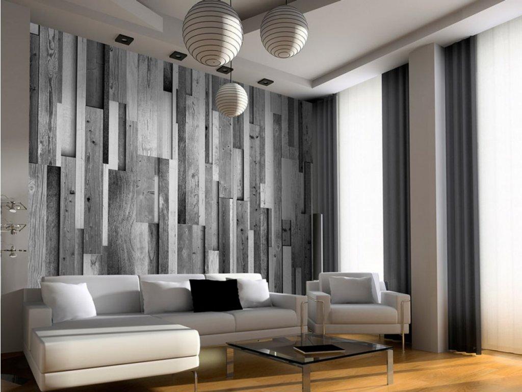 Dřevěná šeď (Klasické tapety 49x1000 cm - samolepicí)