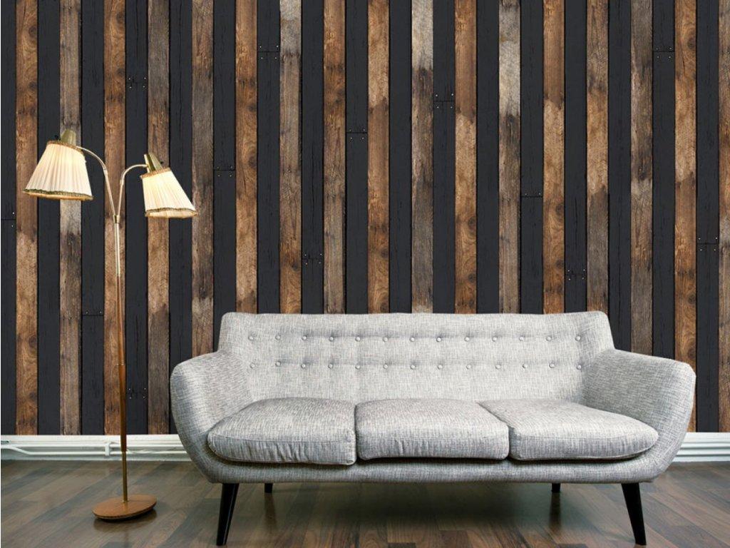 Dřevěný duet (Klasické tapety 49x1000 cm - samolepicí)