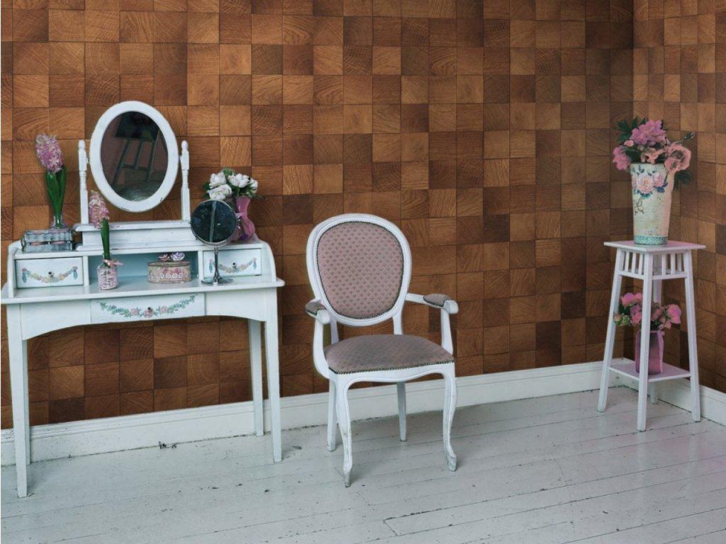 Dřevo v barvě čokolády (Klasické tapety 49x1000 cm - samolepicí)