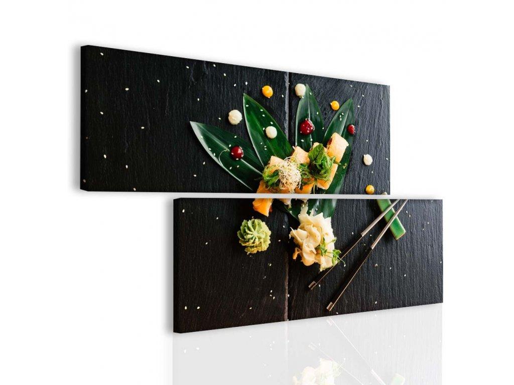 Dvoudílný obraz sushi (Velikost (šířka x výška) 174x100 cm)