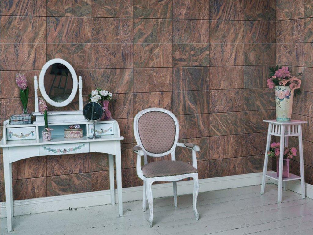 Dým v barvě burgundského (Klasické tapety 49x1000 cm - samolepicí)