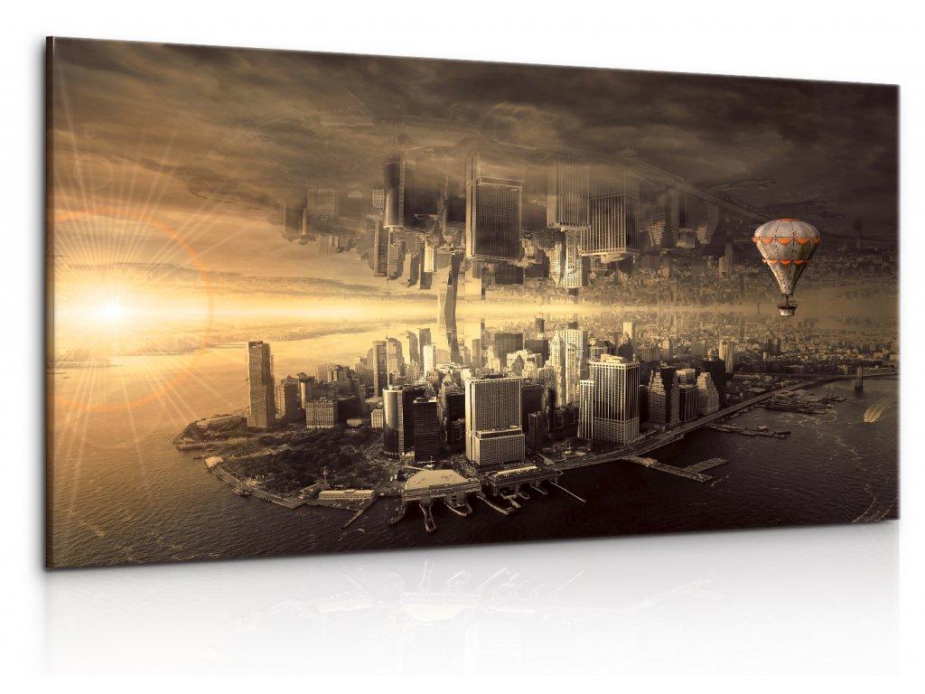 Fantasy New York (Velikost (šířka x výška) 120x55 cm)