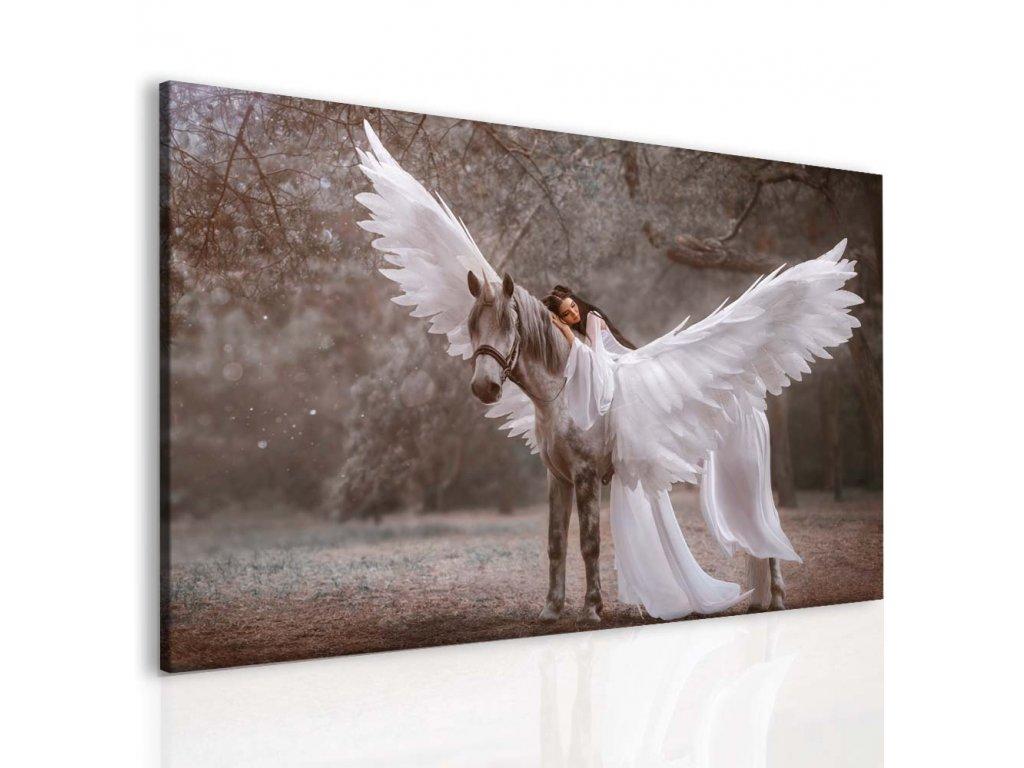 Fantasy pegas a láska II (Velikost 40x30 cm)