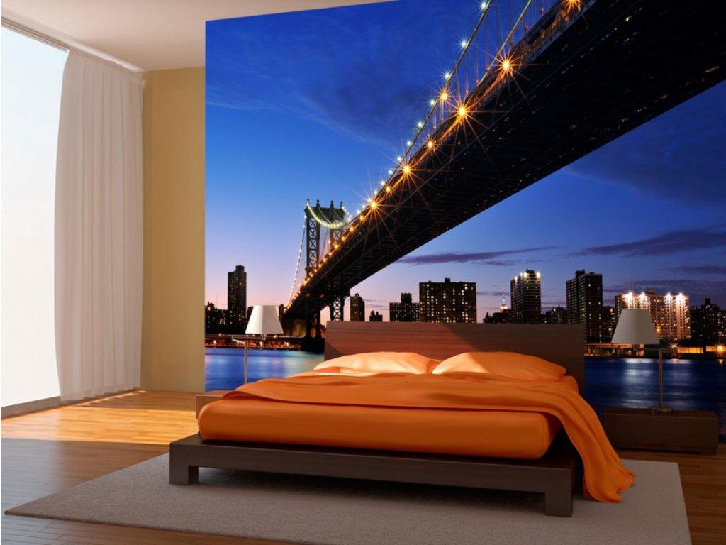 Fototapeta - Manhattan Bridge (Rozměry (š x v) a Typ 147x116 cm - samolepící)