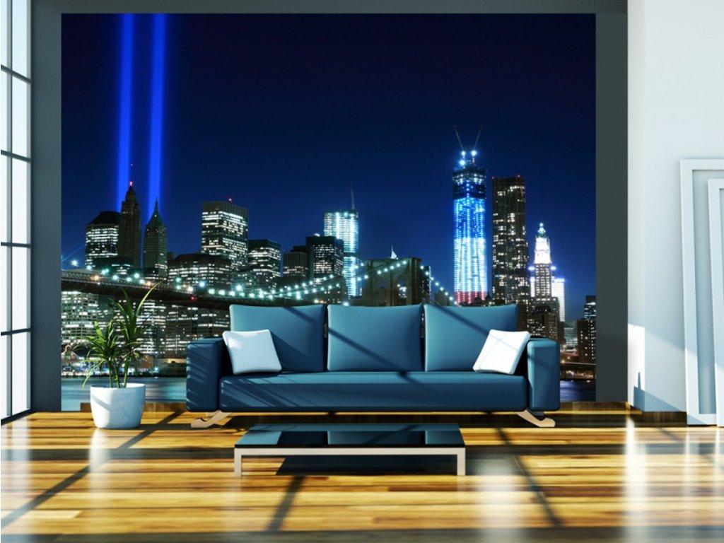 Fototapeta - Modrý NYC (Rozměry (š x v) a Typ 147x116 cm - samolepící)