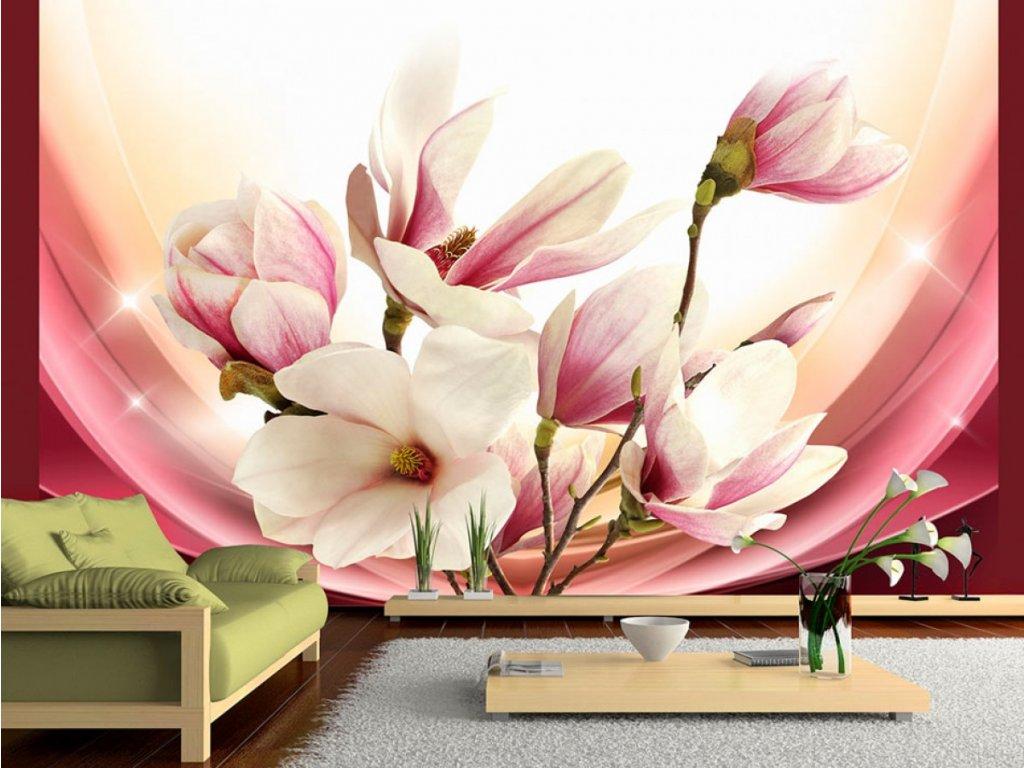 Fototapeta - Proměny magnolie II. (Rozměry (š x v) a Typ 147x105 cm - samolepící)