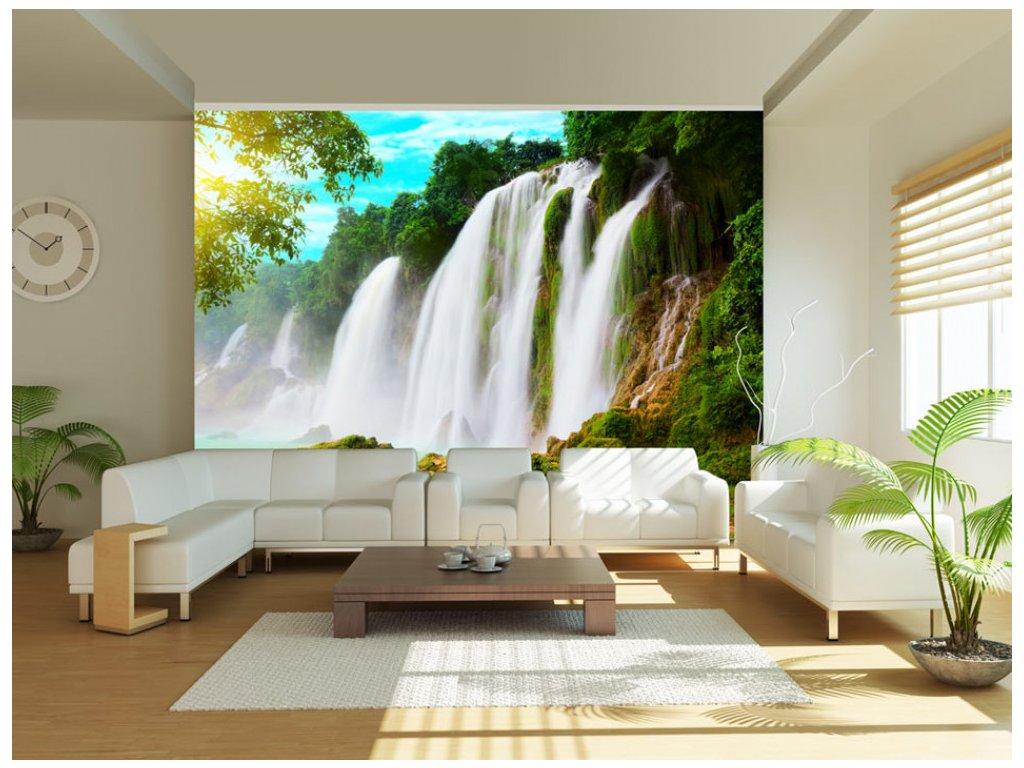 Fototapeta - vodopády v Číně (Rozměry (š x v) a Typ 147x116 cm - samolepící)
