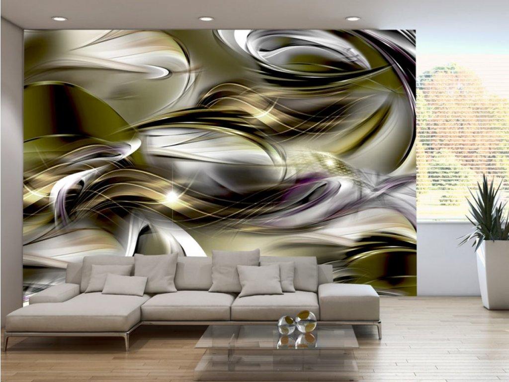 Fototapeta abstraktní vlny (Rozměry (š x v) a Typ 147x105 cm - samolepící)